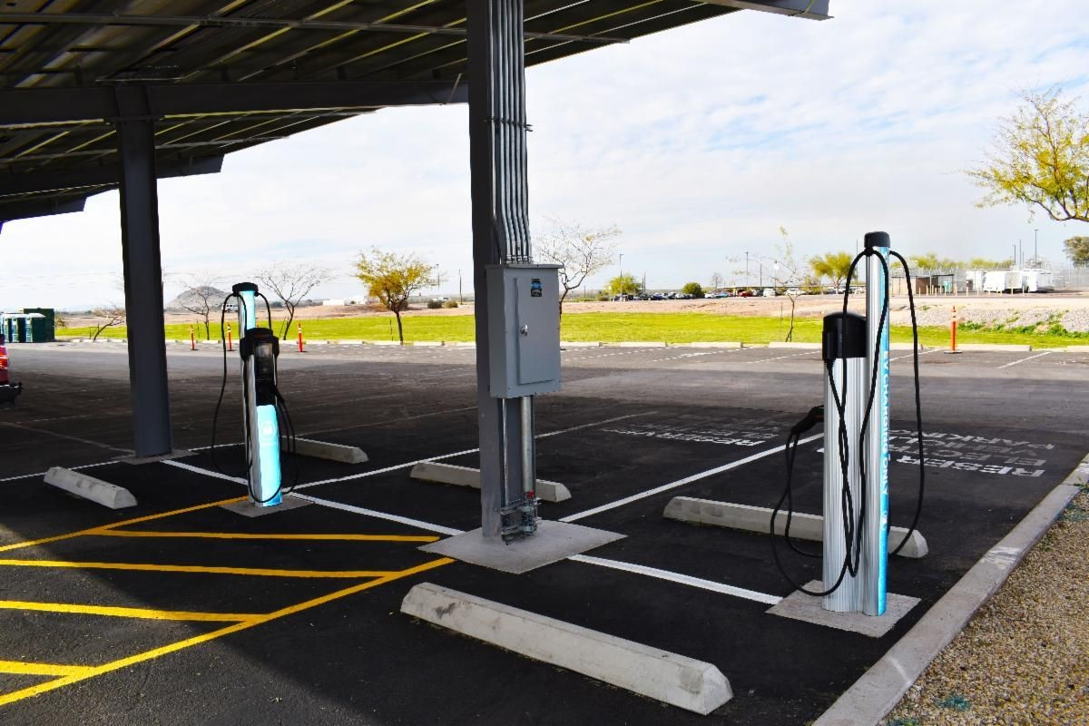 Pinal County and APS unveil first electric vehicle charging stations on County property
